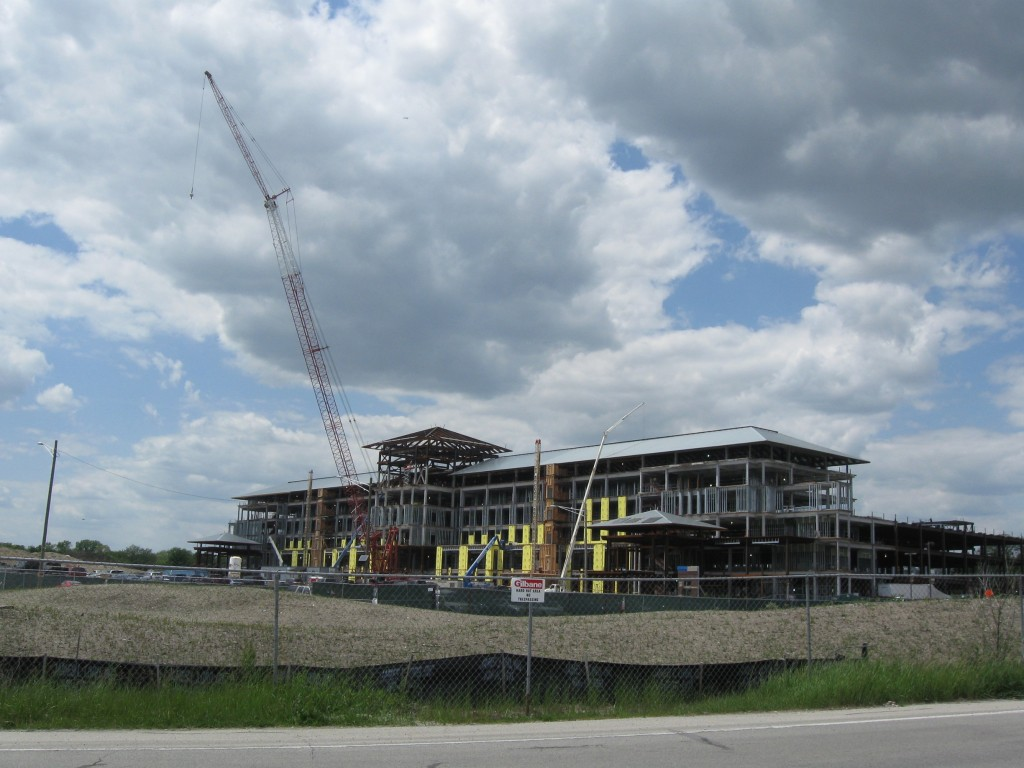 : Work proceeds on the Elmhurst Memorial Healthcare integrated healthcare campus project.