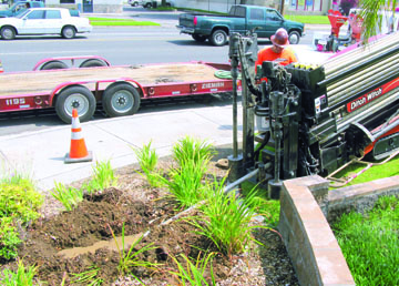 Long's Directional Boring operates a Ditch Witch JT2020 Mach 1 directional drill for a project on Foothill Boulevard in San Bernardino, Calif. Don Betsworth photos