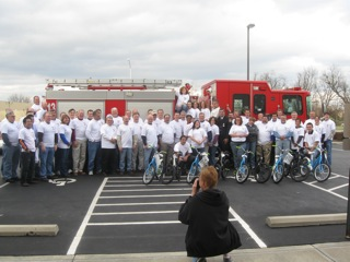 LBX employees donating bikes to the Lexington,KY Fire Dept.