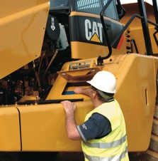 Daily, pre-start inspections are a first line defense against unscheduled downtime and catastrophic failures. Even on large pieces of equipment, like the Cat articulated truck, manufacturers make it safe and easy for operators and maintenance personnel to do the inspections.