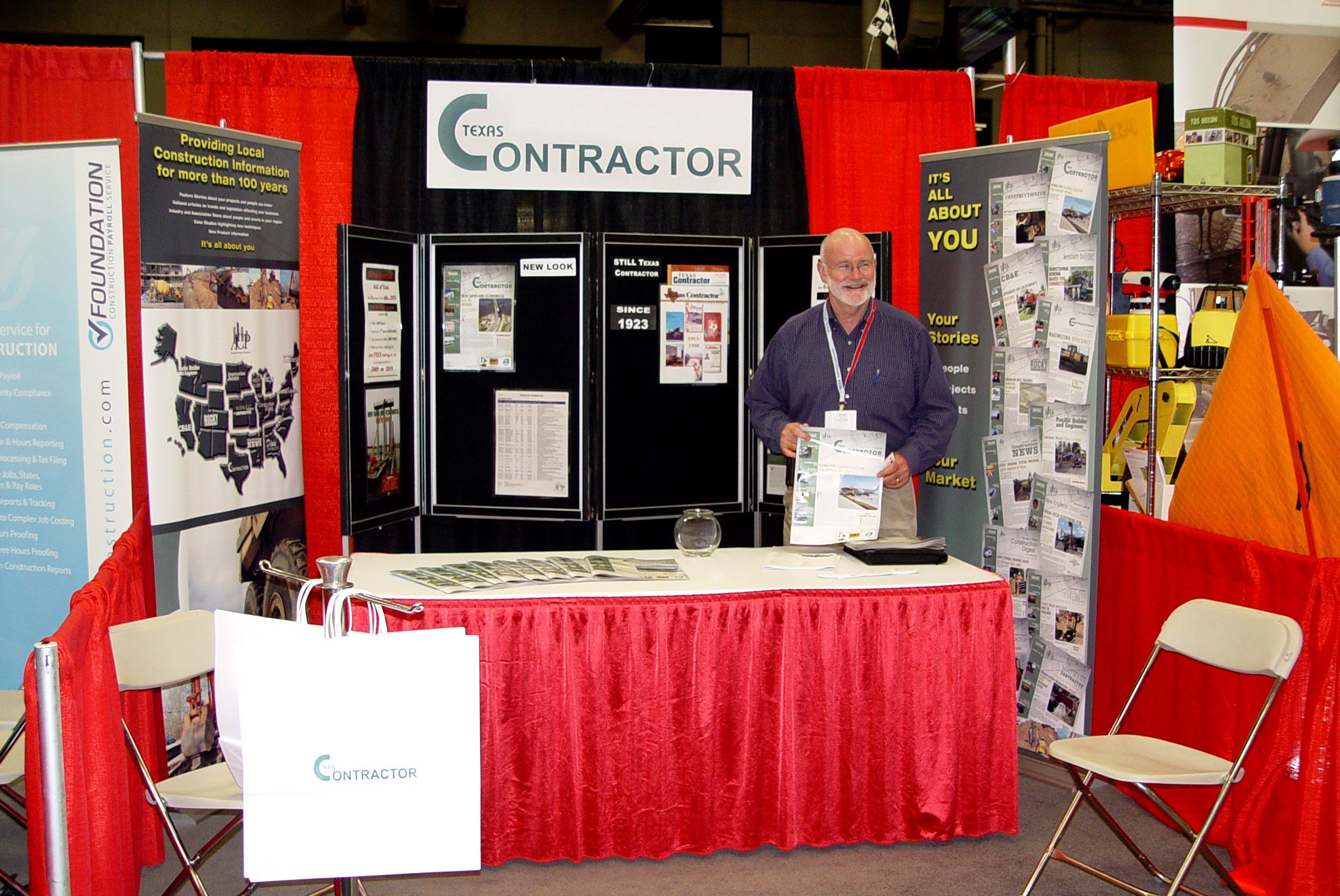Trade Show Booth Builders : Texas contractor at industry show « site k construction zone