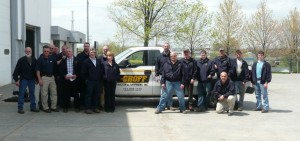Employees at the Cranberry Township (Penn.) branch show off their new jackets.