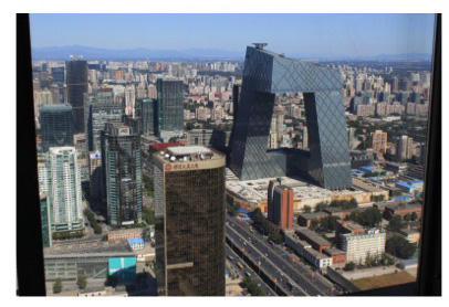 World class architecture crowns the Beijing business district skyline.
