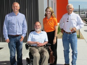 (Pictured left to right) Jake Sadler, COO of UnderCon, Don Malzahn – Vice Chairman of the Board, The Charles Machine Works, Inc., Tiffany Sewell-Howard – Chief Executive Officer of The Charles Machine Works, Inc., and Lenny Sadler, CEO of UnderCon.