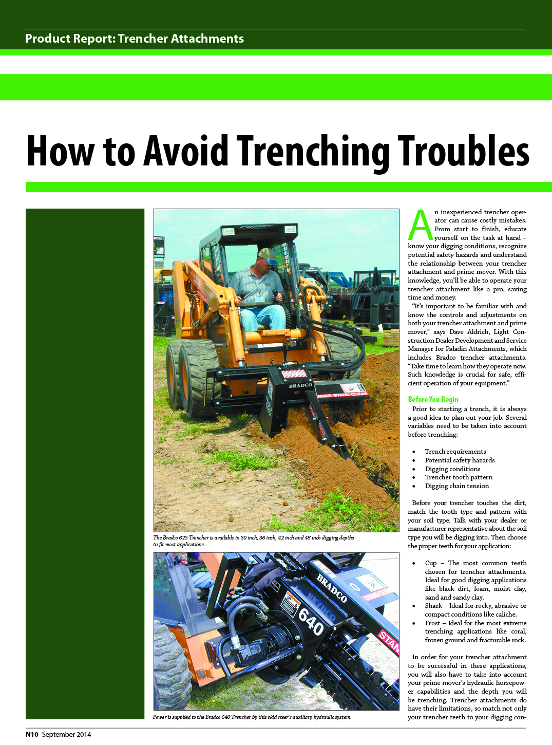 How to Avoid Trenching Troubles1