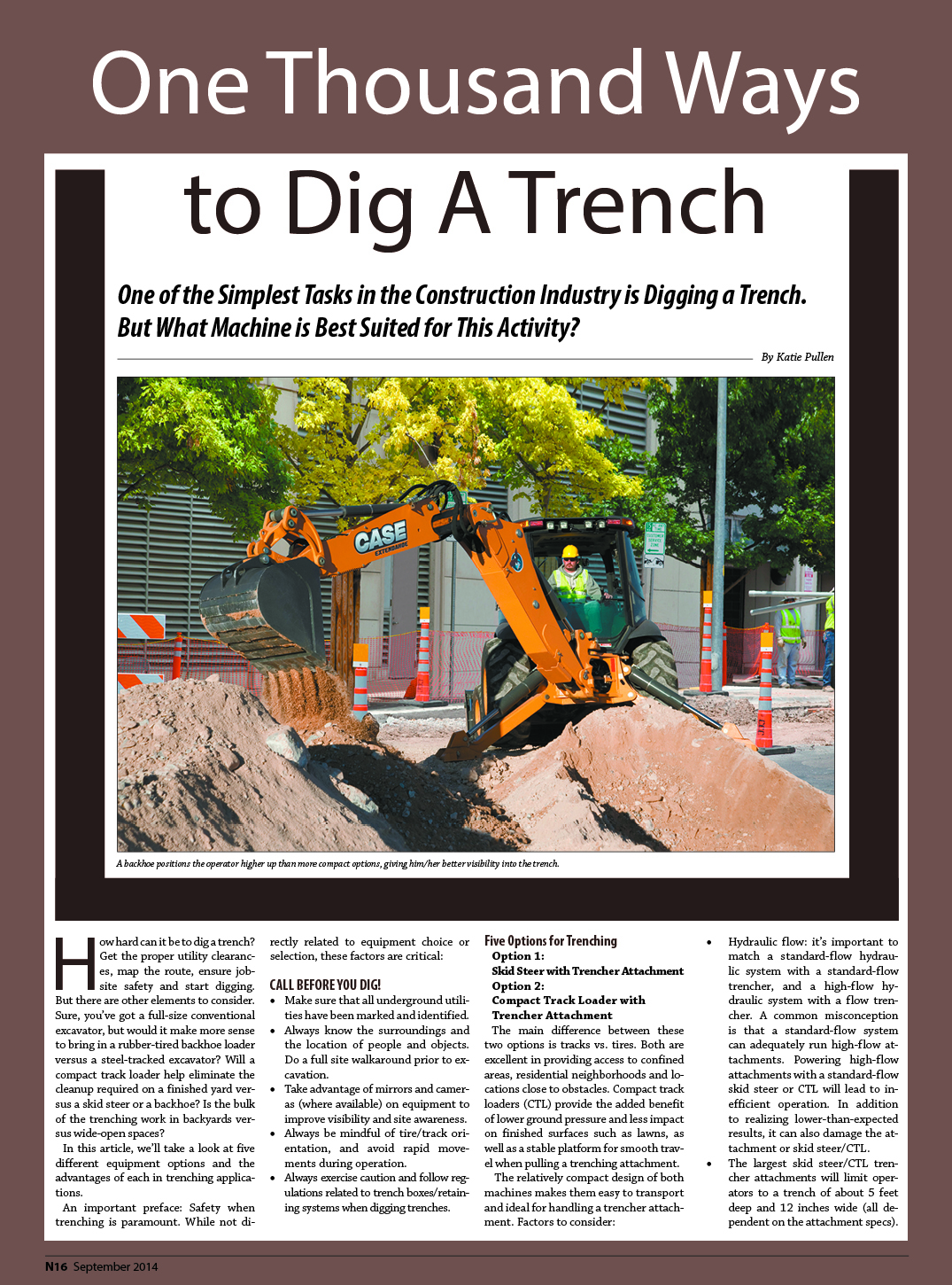 One Thousand Ways to Dig A Trench « Site-K Construction Zone