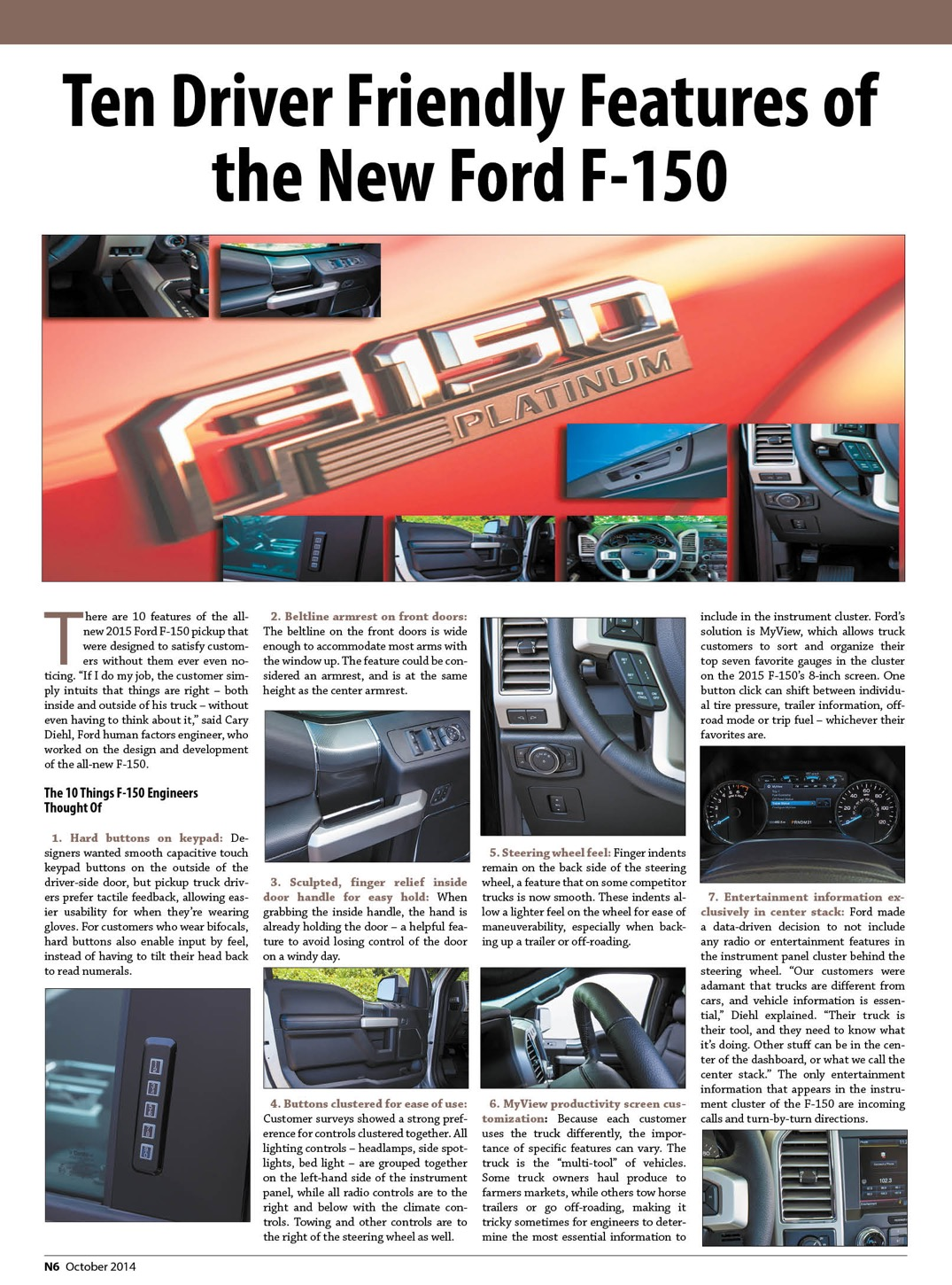 Ten Driver Friendly Features of the New Ford F-1501