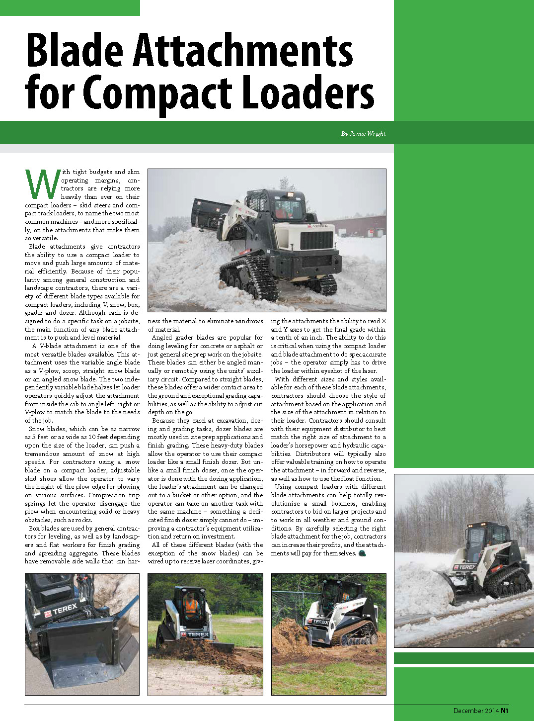 Blade Attachments for Compact Loaders