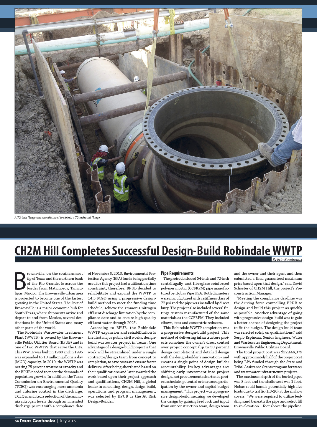 CH2M Hill Completes Successful Design-Build Robindale WWTP
