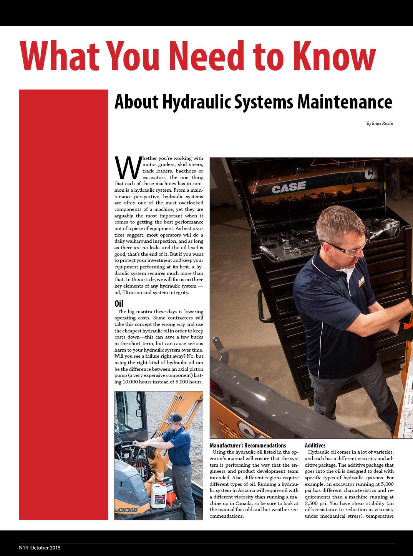 Hydraulic Maintenance 1