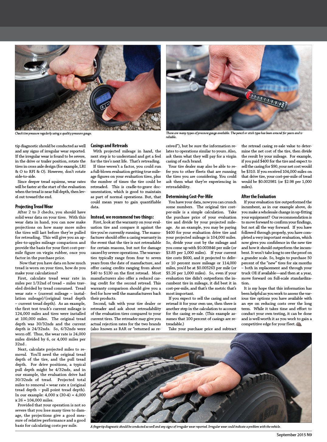 Tire Evaluations 2