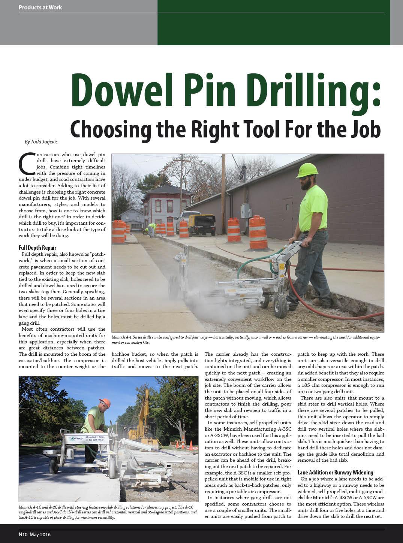 Dowel Pin Drilling