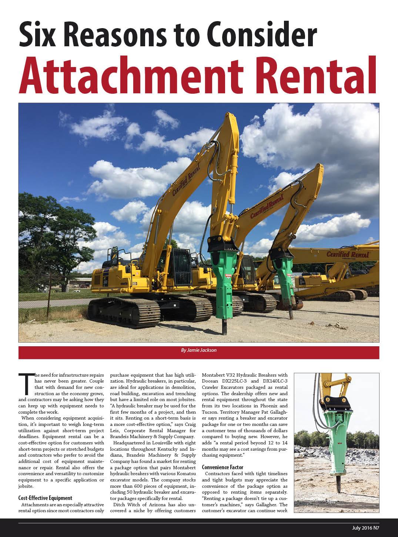 Attathment Rental