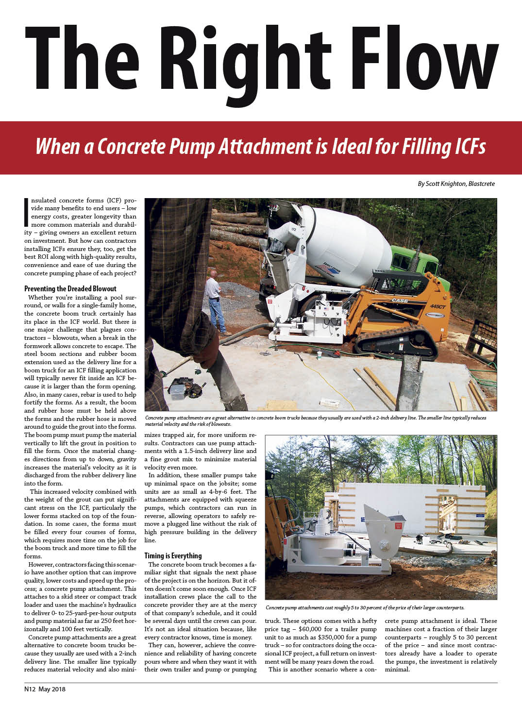 The Right Flow — When a Concrete Pump Attachment Is Ideal